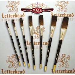 Series 1992 Flat lettering Mack Brushes