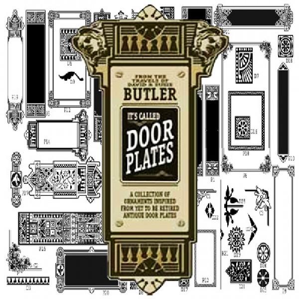 Butler Door Plates Clip-Art