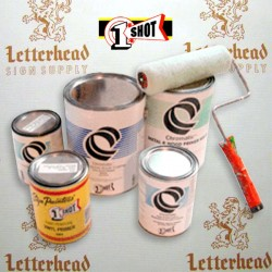 1 Shot Lettering Enamel Paint Block Out White 197B - Quart