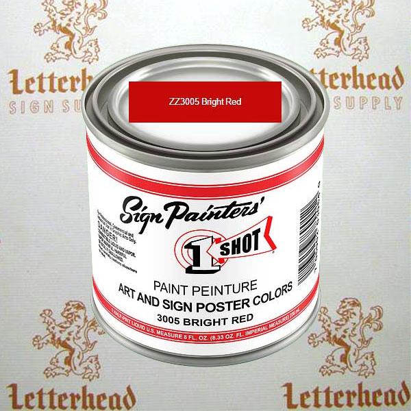 1 shot art poster colors paint bright red ZZ3005 quart