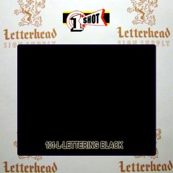 1 Shot Lettering Enamel Paint Black 199L-1/4 Pint