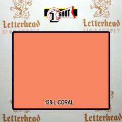 1 Shot Lettering Enamel Paint Coral 120L - 1/2 Pint