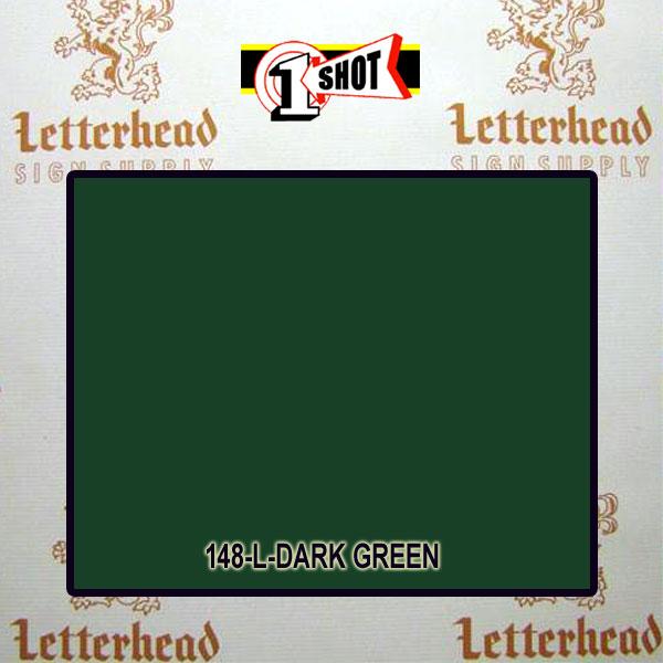 1 Shot Lettering Enamel Paint Dark Green 148L - 1/2 Pint