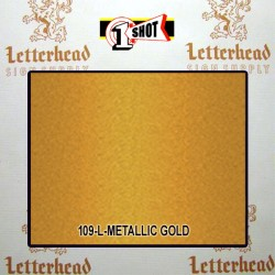 1 Shot Lettering Enamel Paint Metallic Gold 109L - 1/2 Pint
