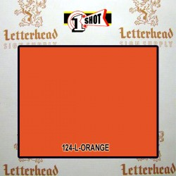 1 Shot Lettering Enamel Paint Orange 124L - 1/2 Pint