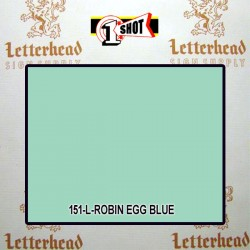1 Shot Lettering Enamel Paint Robin Egg Blue 151L - 1/2 Pint