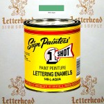 1 Shot Lettering Enamel Paint Aqua 149L - Quart