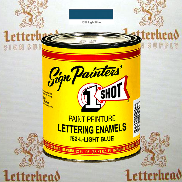 1 Shot Lettering Enamel Paint Light Blue 152L - Quart