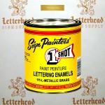 1 Shot Lettering Enamel Paint Metallic Brass 111L - Pint