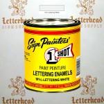 1 Shot Lettering Enamel Paint White 101L-Pint