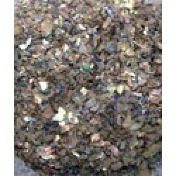 Paua Abalone Crushed (Brocade) Flakes for Inlay - 1 lb