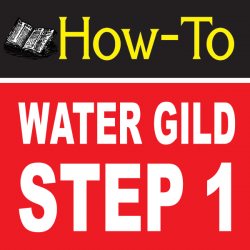 Water Gilding Step By Step Part 1