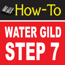 Water Gilding Step By Step Part 7