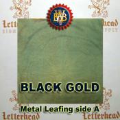 Black Gold Variegated Metal Leaf