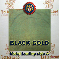 Black Gold Variegated Metal Leaf