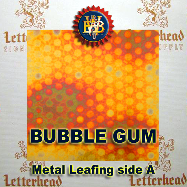 Variegated Metal Leaf-Bubble Gum
