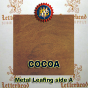 Cocoa Variegated Metal Leaf