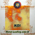 Variegated Metal Leaf-Koi Red