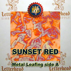 Variegated Metal Leaf-Sunset Red 20 book Pack