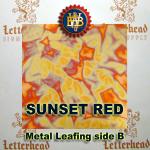 Variegated Metal Leaf-Sunset Red book