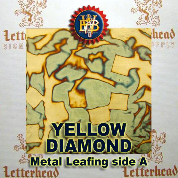 Variegated Metal Leaf-Yellow Diamonds 20 Book Pack