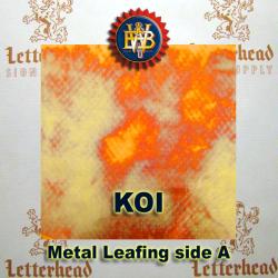 Variegated Metal Leaf-Koi Red